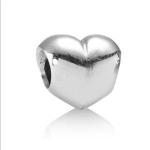 Pandora Inflated heart charm silver
